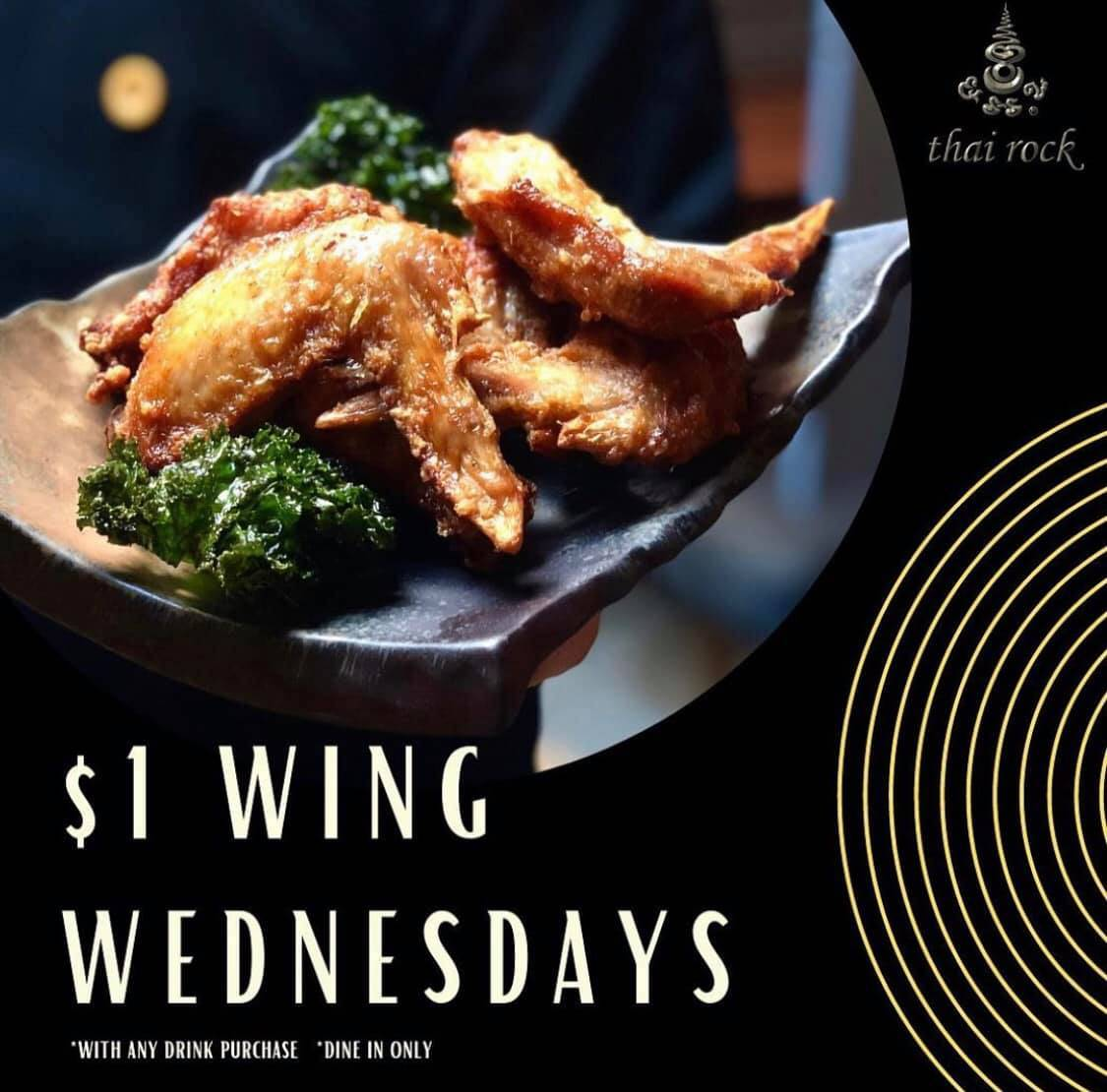 Thai Rock Potts Point $1 Wing Wednesdays